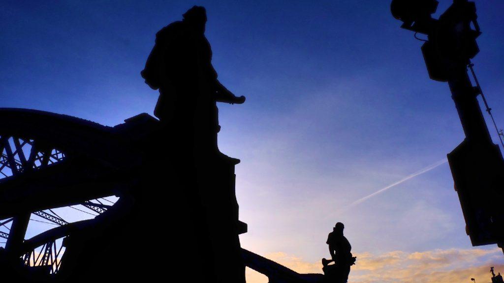 Statuen in Hamburg bei St. Annen