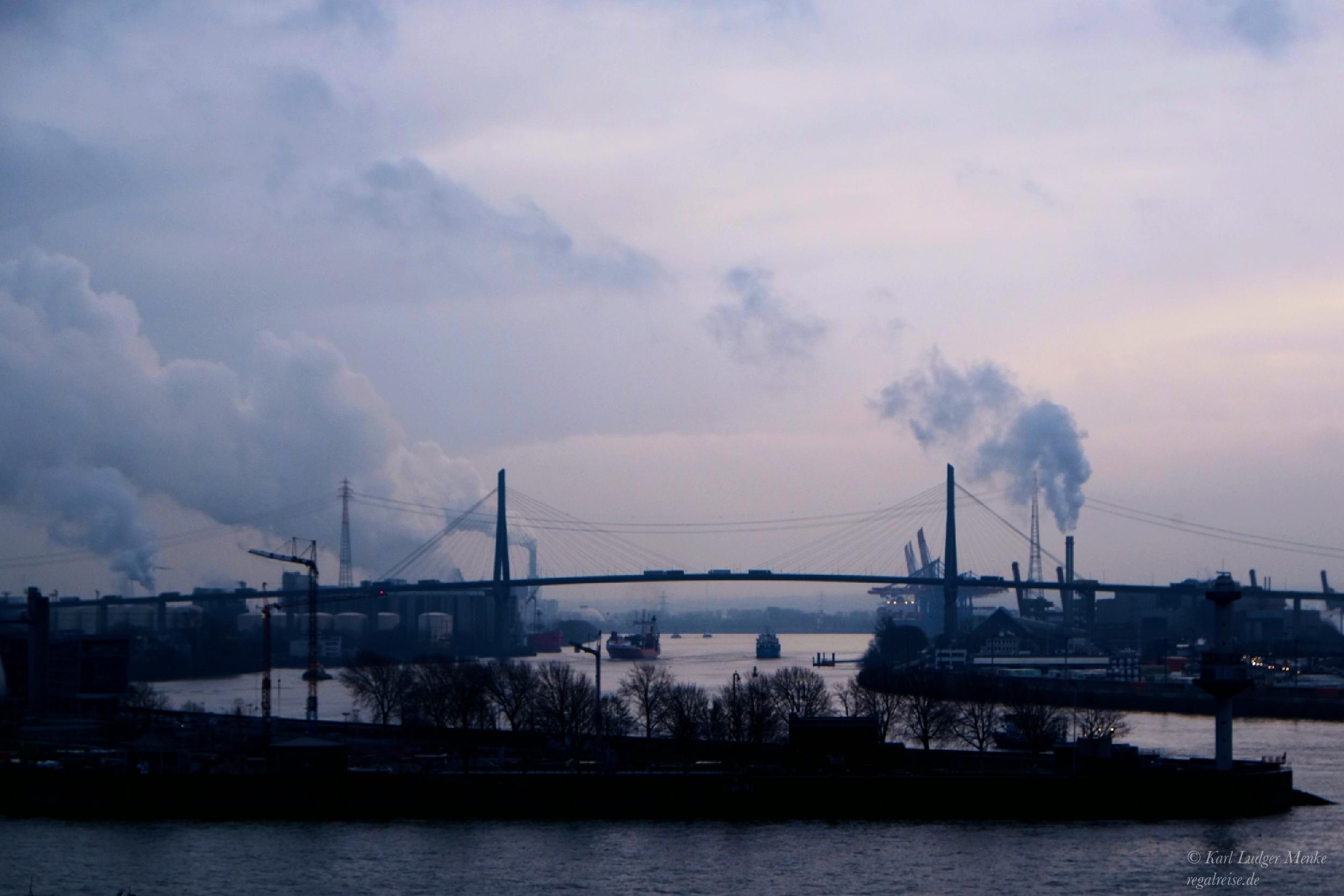 Blue Monday in Hamburg by Karl Ludger Menke