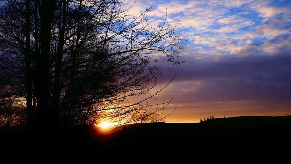 Sonnenuntergang auf dem Lande von Karl Ludger Menke